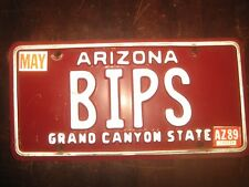 License Plate, Arizona, Gr8 Vanity: BIPS, Bip's (Car), You bet your sweet bippy!