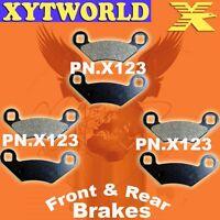 Front Rear Brake Pads Polaris 400 Sportsman 4x4 2008-10
