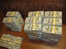 $20,000 Prop Movie Money 2 Bundles $100 Bills USA New Look Style 2x $10,000
