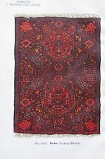 1917 KUBA ISPAHAN-DESSIN No 5433 Orientteppich Sammlung Meyer-Müller Druck print