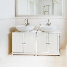 Non Pedestal Under Sink Bathroom Storage Vanity Cabinet Space Saver Organizer
