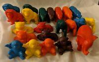 Tootsie Toy Plastic Zoo Animal Figure Lot - Elephant Tiger Monkey Lion Rhino x22