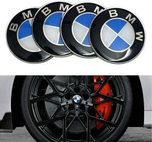 4Pcs 56mm Logo Wheel Centre Badge Sticker Emblem Cover Fits BMW Hub Caps