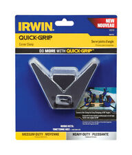 Irwin  Quick-Grip  4 in.  Plastic  Corner Clamp  Black