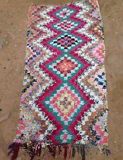 "Vintage Moroccan Boucherouite runner rag rug 170 x 82 cm   5'7""x 2'8"""