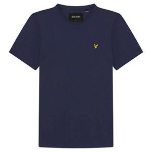 Lyle & Scott Men's Organic Cotton Plain Crew Neck T-Shirt Navy