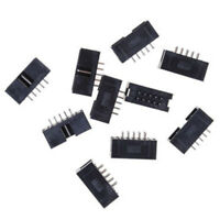 10PCS DC3 10P 2.54mm 2x5 Pin 10 Pin Straight Male Shrouded Header IDC Socket XC