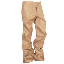 ELLERY $1,089 baggy slouch fit wide leg trousers straw tweed zip pants 46-IT NEW
