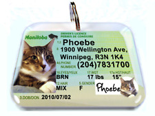 Manitoba Canada Driver License Canadian dog cat tag custom by Id4Pet