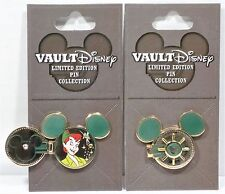 Disney Vault Peter Pan & Tinkerbell Hinged & Spinner Pin 3-D LE 1000 NEW HTF