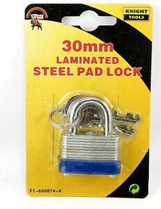 30MM LAMINATED STEEL PADLOCK