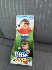 Fisher-Price Little People New Soccer Player And Coach Ball Play Ground School