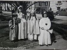 Vecchia foto d epoca fotografia antica BAMBINI VESTITI DA CARNEVALE Salerno di