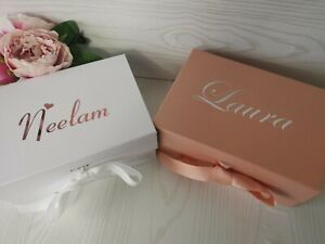 Personalised A5 Deep Magnetic Clasp Gift Box Hen Bridal Party Bridesmaid...