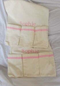 """Pottery Barn Changing Table Runner Pink """"Sophie"""" NWOT"""