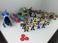 Imaginext Fisher-Price and Hasbro Heroes Action Figure lot of 17 figures + MORE