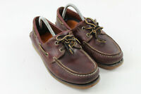 TIMBERLAND Brown Leather Boat Shoes size Uk 7
