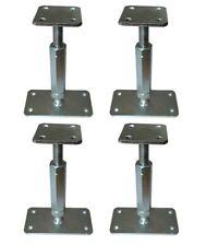 4xPfostenträger verstellbar Höhe 160-220 mm höhenverstellbar Stützenfuß Carport
