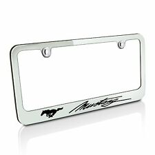 Ford Mustang Script Chrome Metal License Plate Frame