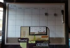 Quartet Magnetic Combination Calendar Board, Dry-Erase and Cork, 17 x 23