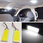 2pcs Xenon HID White LED Dome Map Light Bulb For Car Interior Panel Lamp COB 12V