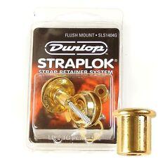 Dunlop 'straplok' Strap Locks Flush Mount Gold SLS1404G