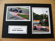 MARK WEBBER HAND SIGNED AUTOGRAPH A4 PHOTO DISPLAY & COA FORMULA 1 RACING AFTAL