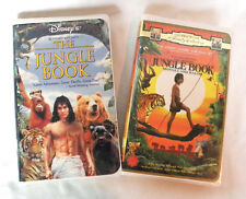 Disney Lot of 2 LIVE ACTION The Jungle Book VHS Mowgli & Baloo Clamshell VTG OOP