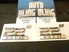 "22"" CUSTOM HARLEY HONDA MotorCycle Emblems Badges Wheels Chrome Rims ""For 2"""