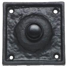 Cuadrado Victoriano Interruptor De Timbre De Puerta En Hierro Fundido Negro (AB212)