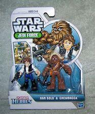 PLAYSKOOL HEROES 2011 STAR WARS JEDI FORCE HAN SOLO & CHEWBACCA SET