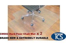 2 x New Hard Floor Office Chair Mat Vinyl 1200 x 900mm