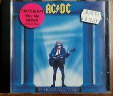 AC/DC WHO MADE WHO ALBERT PRODUCTIONS AUSTRALIA PICTURE DISC IMPORT CD ALBUM