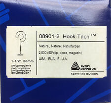 "New 1 box (2500) Avery 08901-2 1.5"" Hook-Tach 39mm"