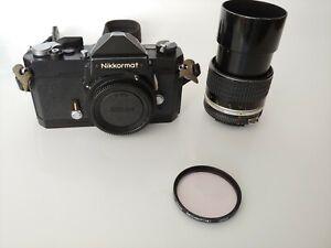 Vintage Nikon ( Nikkormat ) Camera. With 105mm Lense , made in Japan