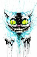 Cheshire Cat Alice In Wonderland Mad Hatter Original Fan Art Print Poster 11x17