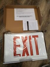 Lithonia Lighting Lxw3r Led Exit Sign 120277 Steel White Red Letters