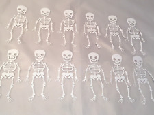 Halloween Die Cuts * Dangling Skeletons *  White Cardstock * Twelve Skeletons!