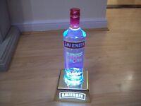 Smirnoff Bottle Uplight HOME PUB/BAR/MANCAVE BRAND NEW RECHARGABLE HARD PLASTIC
