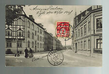 1908 Vejle Denmark to French Colonial Soldier Pekin China Postcard Cover