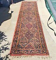 Luxurious WOOL Design Kirmanshah Runner Rug, Quality Royalty Oriental VINTAGE