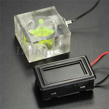LED Thermometer 3 Way FlowMeter For Water Cooling Liquid Cooler System Barbs T