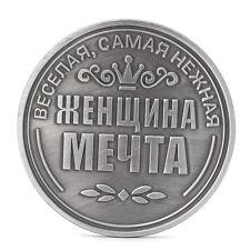 Unique Russian Moheta Irina Letters Rose Commemorative Challenge Coin Token Gift