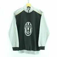 Vintage Official Juventus Men's Sweater Size S in Black & Grey Big Logo EF3756