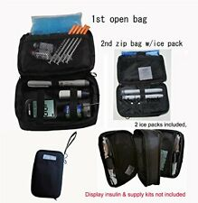 Diabetic Cooler Bag w/ 2 Ice Pack Keeps Insulin Cool When You Outing Travelling