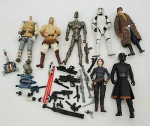 "Lot Of 3.75"" STAR WARS Figure Parts & Weapons! Lightsabers, Jetpacks, Blasters!!"