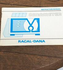 Vintage Racal-Dana Danameter Instruction Manual