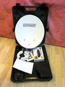 Schwaiger Camping Satellitenanlange SAT3400HD mit Koffer mobile SAT-Anlage 15653