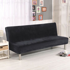 Armless Sofa Bed Fabric Cover Elastic Futon Slipcover Sofa Home Furniture New