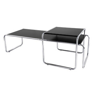 2-piece coffee table Nesting side table Fit Laccio-style